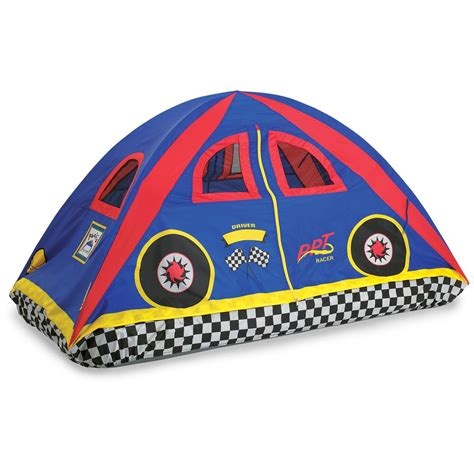twin bed tents pacific play tents 174 rad racer twin bed tent 228438 toys at sportsman s guide
