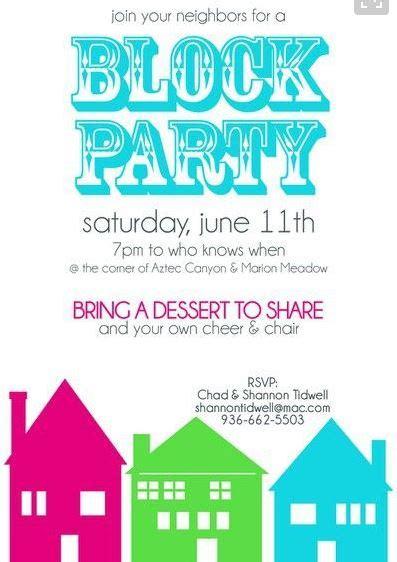 Free Neighborhood Block Party Flyer Template