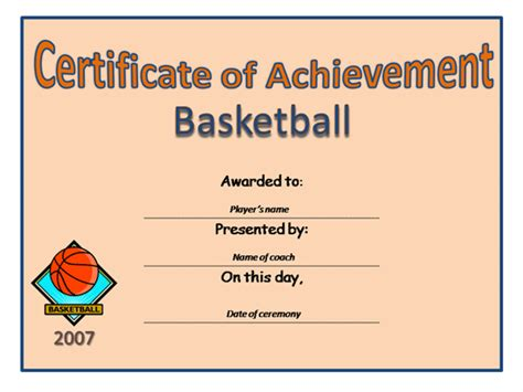 basketball participation certificate template quotes