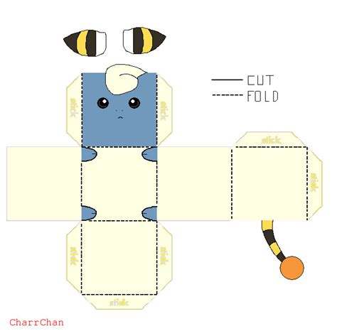 Papercraft Simple - mareep papercraft by charrchan on deviantart