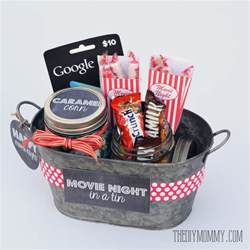 Movie Night Gift Basket A Gift In A Tin Movie Night In A Tin The Diy Mommy