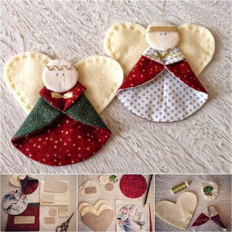 diy fabric angel christmas ornaments just simply me