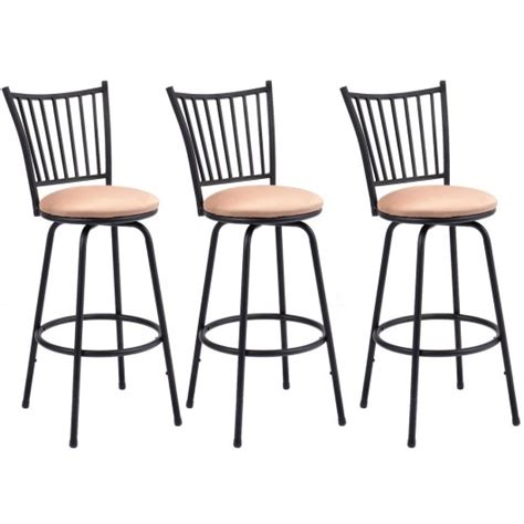 Set Of 3 Counter Height Stools set of 3 swivel counter height bar stools table bar