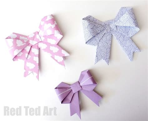 Make A Bow Out Of Paper - origami paper bows gorgeous gift wrap idea ted