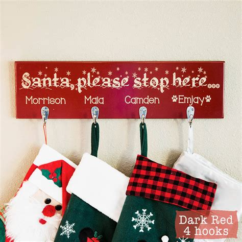 christmas stocking holder personalized christmas stockings