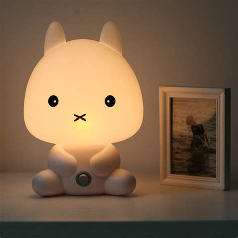 kids bedroom night light baby kids bedroom led rabbit night light bunny cartoon