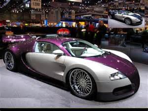Purple Bugatti Veyron And Black Bugatti Veyron Wallpaper Image 85