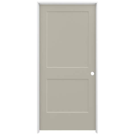Composite Interior Doors Jeld Wen 36 In X 80 In Smooth 2 Panel Desert Sand Solid Molded Composite Single Prehung