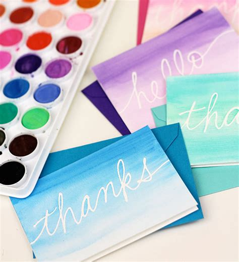 watercolour cards diy 10 diy stationery ideas the crafted