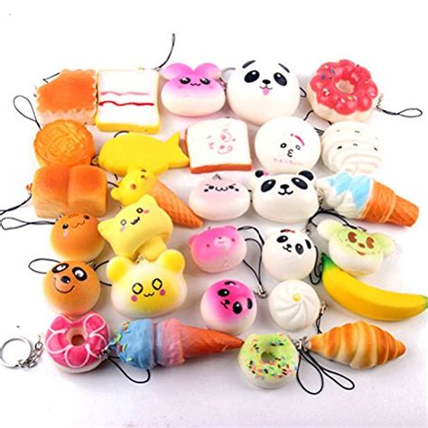 Soft And Slowrise Squishy Random Hk Mini Bun random 20pcs colorful mini rising squishy bread bun donuts phone straps charm