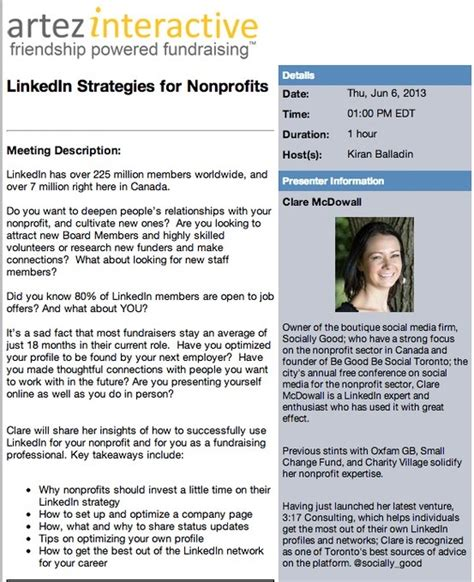 Nonprofit Nus Mba Linkedin by 17 Best Images About Linkedin Tips From 3 17consulting On