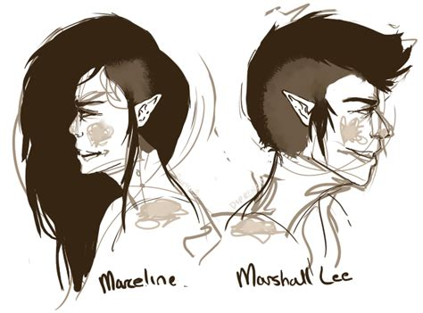 anime guy with half shaved head marceline and marshall lee by diprenzio on deviantart