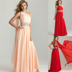 Top Five Sashed Dresses by One Shoulder Pink Sash Prom Dress For