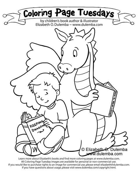 Dulemba Coloring Page Tuesday Keeping Dragons