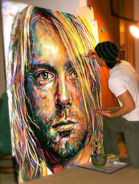 perfect paint a perfect painting of kurt cobain