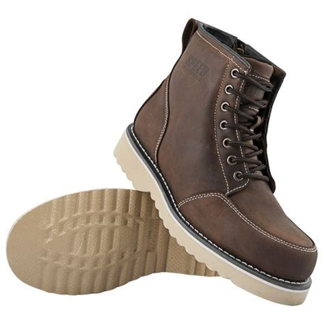brown leather motorbike boots speed and strength overhaul boots revzilla