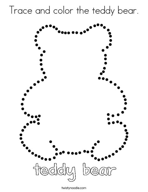 tracing and coloring heartfelt holidays an tracing and coloring book for the holidays books trace and color the teddy coloring page twisty noodle