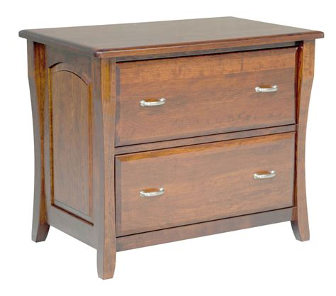 amish file cabinet solid wood wooden lateral  drawer office home  ebay