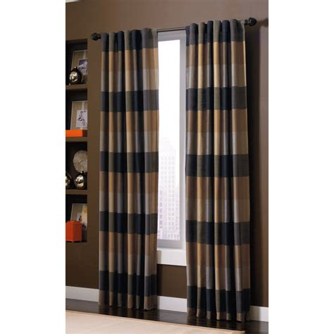 allen roth curtain panels shop allen roth emilia 84 in onyx polyester back tab