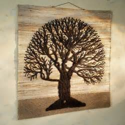 jute tree of life wall hanging