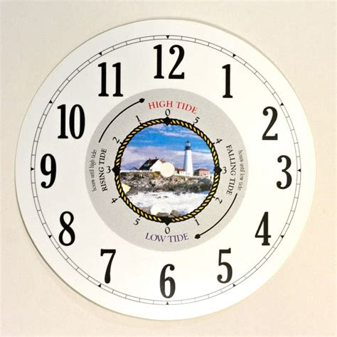 printable tide clock dial let s make time lighthouse tide time clock dial 200mm
