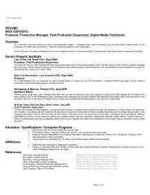 Television Production Manager Sle Resume by Best Photos Of Production Manager Resume Sle Inventory Manager Resume Sle