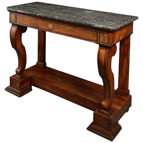 X Console Table Early 19th Century Charles X Period Mahogany Console Table At 1stdibs
