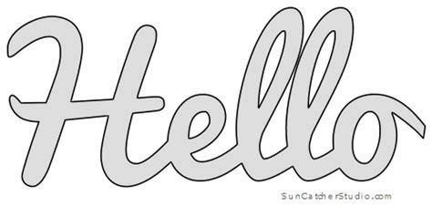pattern template stencil printable word art design