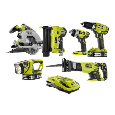 ryobi 18 volt one lithium ion cordless combo kit with