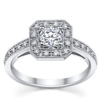 14k white gold diamond engagement ring setting robbins