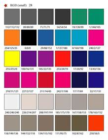 colors rgb printable rgb color palette swatches my practical skills