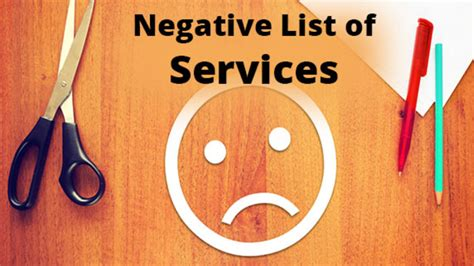 service tax sections list negative list of services no service tax on these