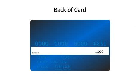 back of credit card template blue credit card template