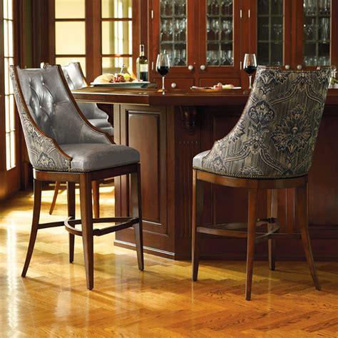 tufted swivel bar stools bradford swivel tufted bar stool traditional bar