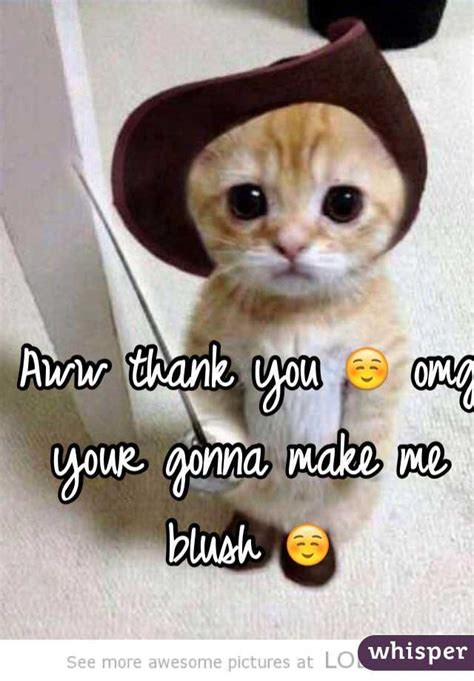 Making Me Blush Meme - aww thank you omg your gonna make me blush