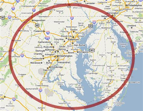 washington dc map surrounding areas winter solstice 2011 map of washington dc and surrounding