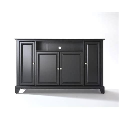 Alexandria 60 Inch Tv Stand In Black Finish Crosley Crosley 60 Inch Corner Tv Cabinet Stand
