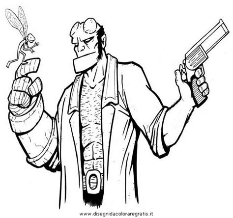 baby hellboy coloring pages