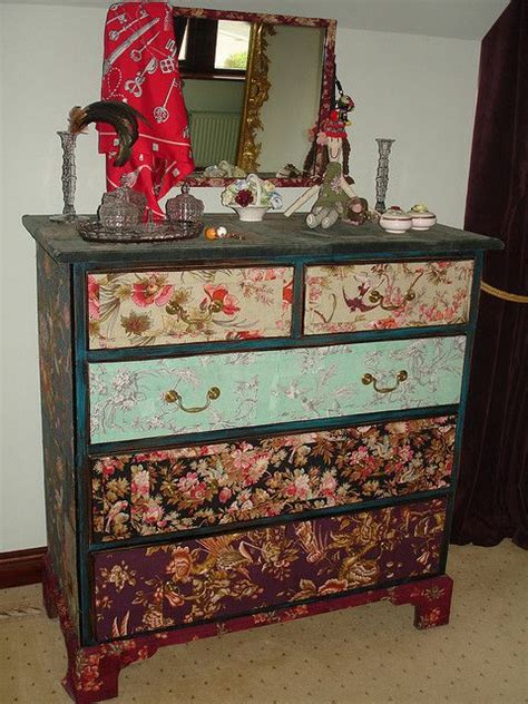 Decoupage Dresser With Fabric - 10 images about decoupage ideas on