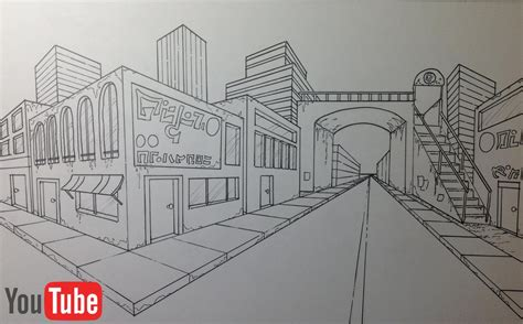2 Point Perspective Drawing Cityscape by Two Point Perspective Cityscape By Akium On Deviantart