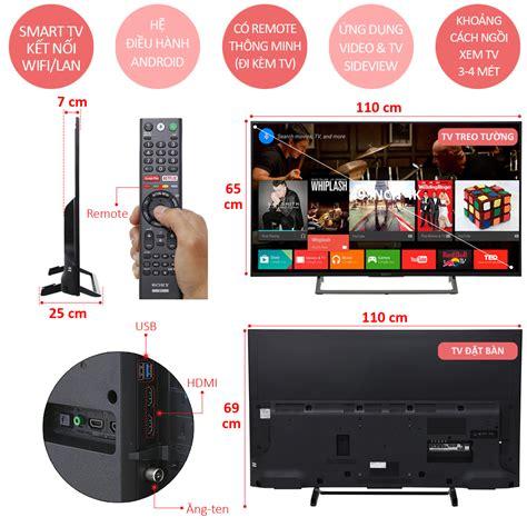 Sony Bravia Android Tv 49 Inc Kd 49x7500e 4k Uhd Hdr smart tivi 49 inch sony kd 49x7500e ch 237 nh h 227 ng nguyễn