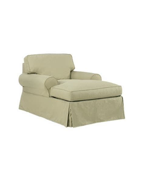 2 arm chaise lounge slipcovered two arm t cushion chaise lounge