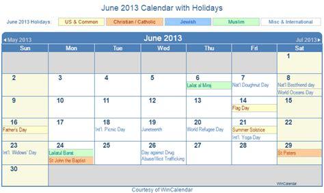 Calendar June 2013 Print Friendly June 2013 Us Calendar For Printing