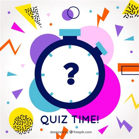 Image Quiz by Modern Quiz Background With Colorful Shapes Vector Free