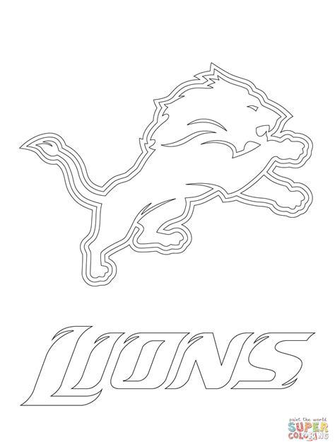 Nfl Lions Coloring Pages | detroit lions logo coloring page free printable coloring