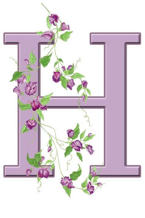 letter h floral initial free stock photo domain