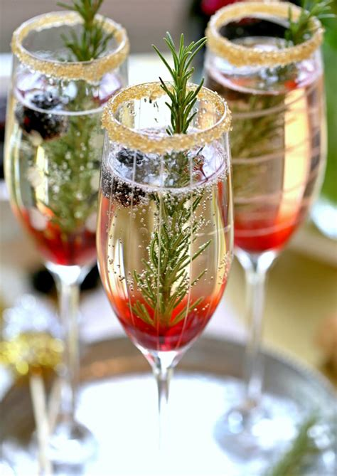 christmas liquor signature drink the blackberry ombre sparkler mon cheri bridals