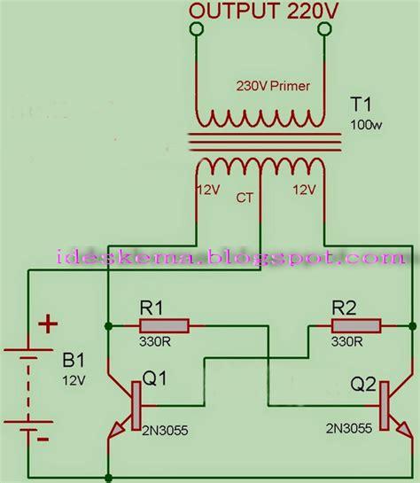 fungsi transistor 2n3055 pada inverter rangkaian membuat inverter dc to ac sederhana memakai transistor 2n3055 skema rangkaian elektro