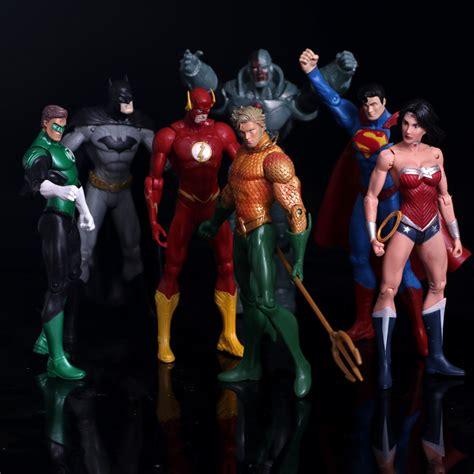 anime figure superheroes batman green lantern flash superman pvc figures