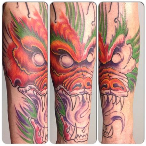tattoo dragon orange dragon bras tattoo couleur david coste tatoueur orange jpg